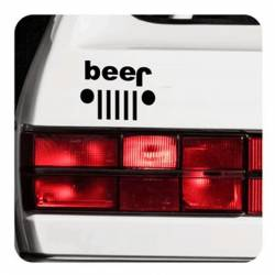 Beer - Jeep Sticker