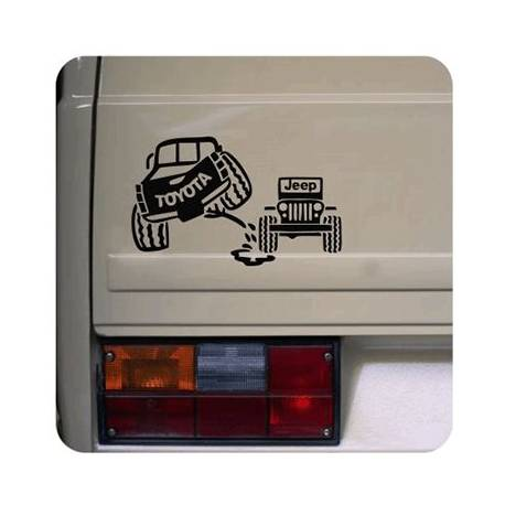 Toyota - Jeep Sticker