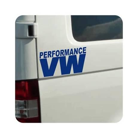 Pegatina VW Performance. Vinilo de alta calidad, soporta perfectamente la intemperie, apto incluso para náutica. Pégala donde qu