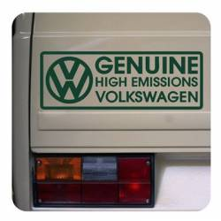 Genuine High Emissions Volkswagen Sticker