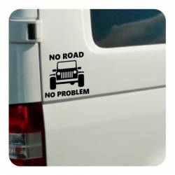 No Road No Problem - Jeep Aufkleber