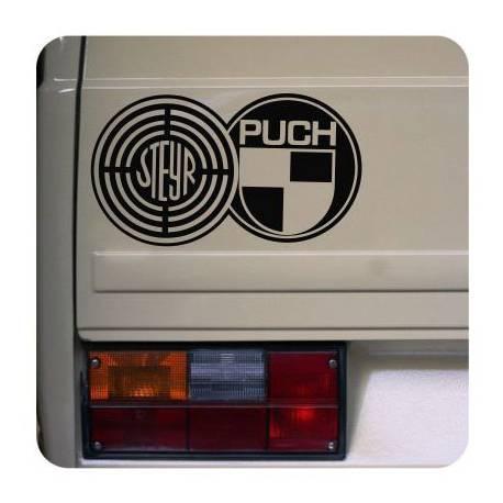 Pegatina Logo Steyr Puch. Vinilo de alta calidad, soporta perfectamente la intemperie, apto incluso para náutica. Pégala donde q