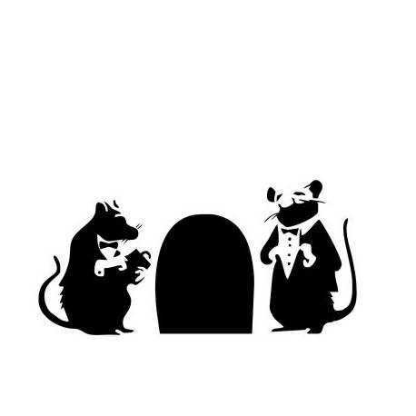 Sticker Banksy Rats