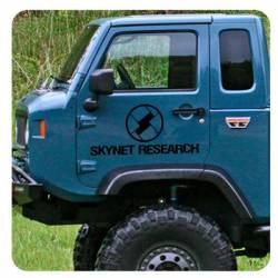 Pegatina Skynet - Terminator. Vinilo de alta calidad, soporta perfectamente la intemperie, apto incluso para náutica. Pégala don