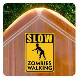 Slow Zombies Walking Aufkleber