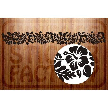 Sticker hibiscus franja