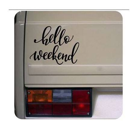 HELLO WEEKEND Aufkleber
