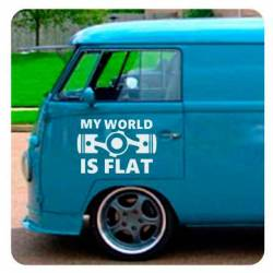 Autocollant My World Is Flat