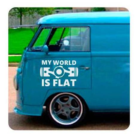 My World Is Flat Aufkleber